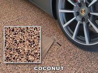 coconut color chip sample