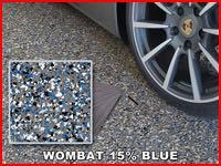 wombat 15 percent blue color chip sample